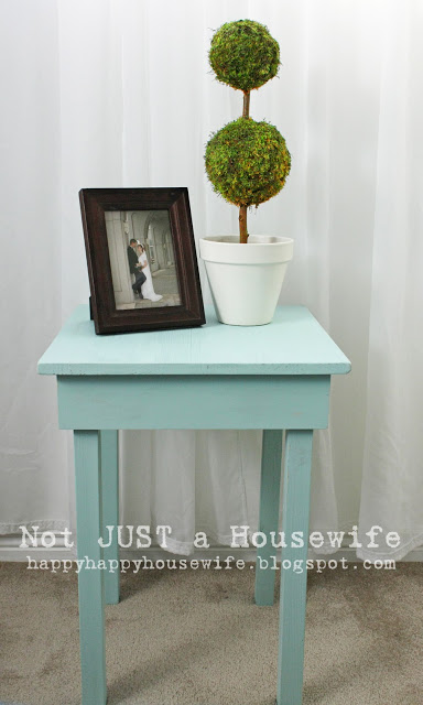 how to build a simple side table - stacy risenmay Homemade Bedside Table