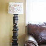 My scrap wood lamp with hand painted shade
