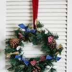 My 5 minute $1 Christmas Wreath