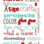 FREE Craft Room Printables