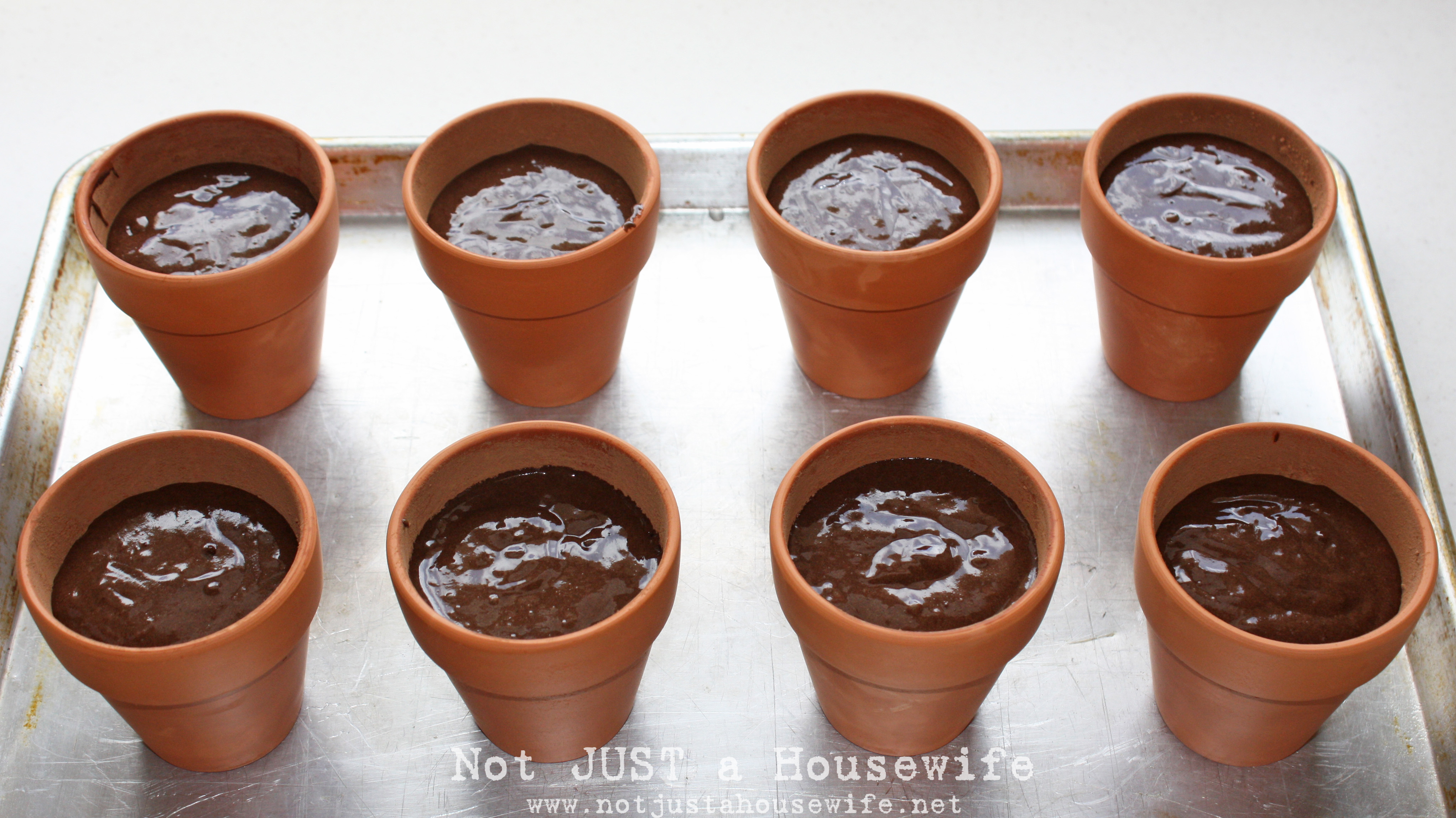 Flower Pot Cakes Not Just A Housewife