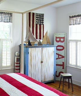Americana style decorating not just a housewife for Americana bedroom ideas