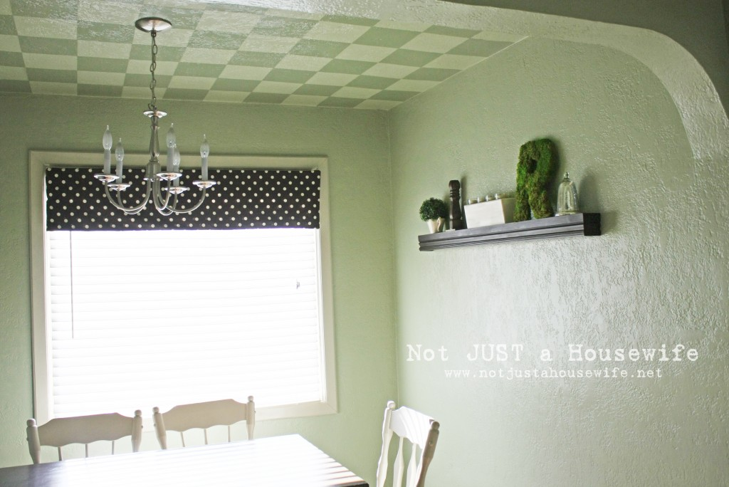 dining room 7 1024x684 Checkered Ceiling Tutorial