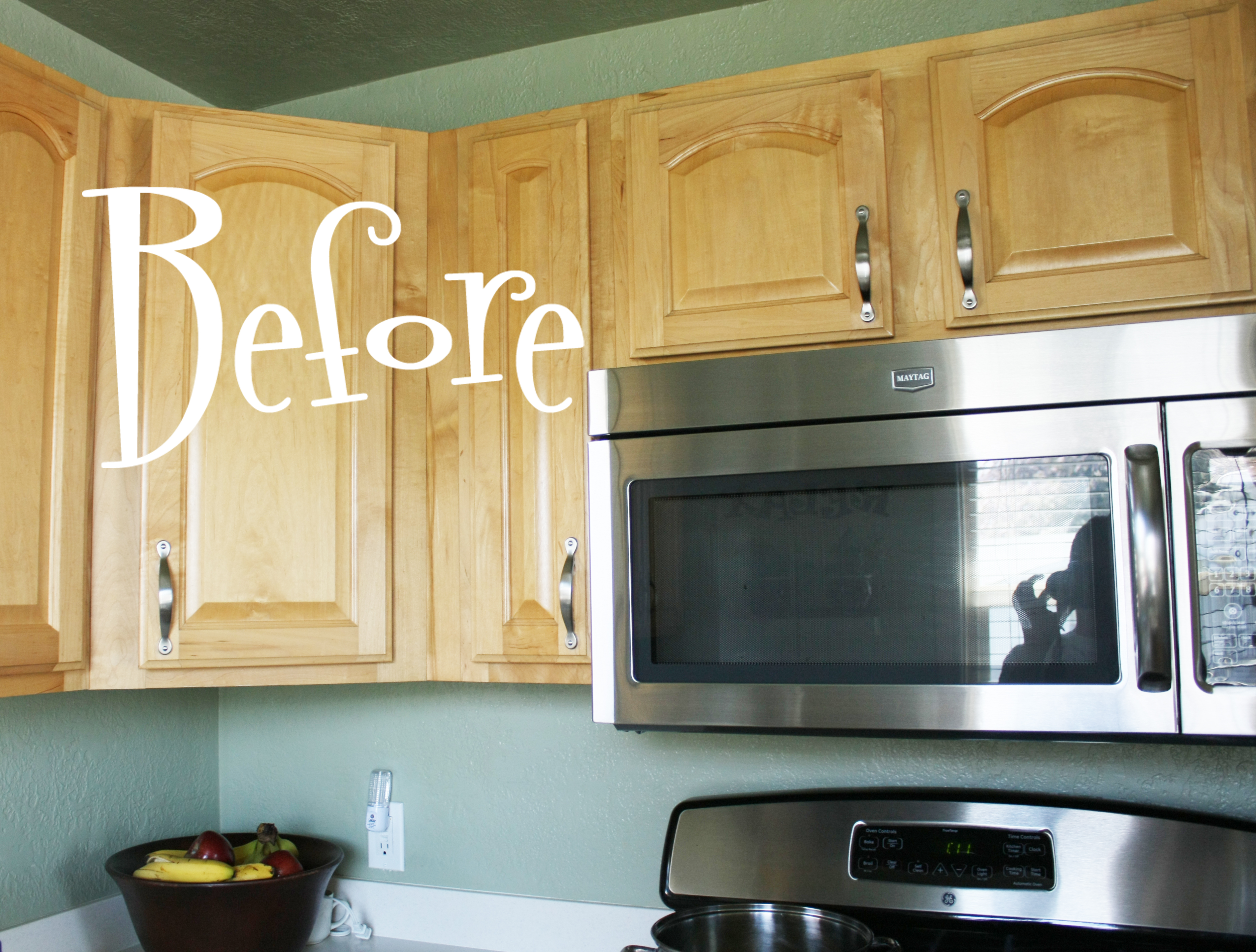 If You Missed My Post On How I Painted The Cabinets Can See It Here Spray Them Using Rust Oleum S Heirloom White