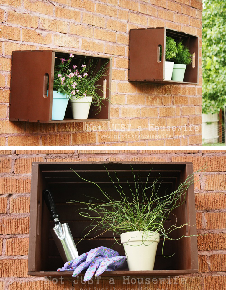 crates used as outdoor storage