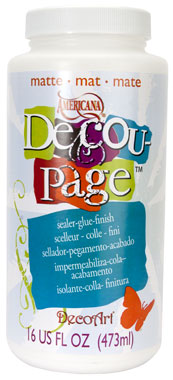 DecoupageMatte 16oz Wood Block Picture Collage
