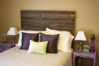 barn wood headboard Features from the Linky party (Surprise!)