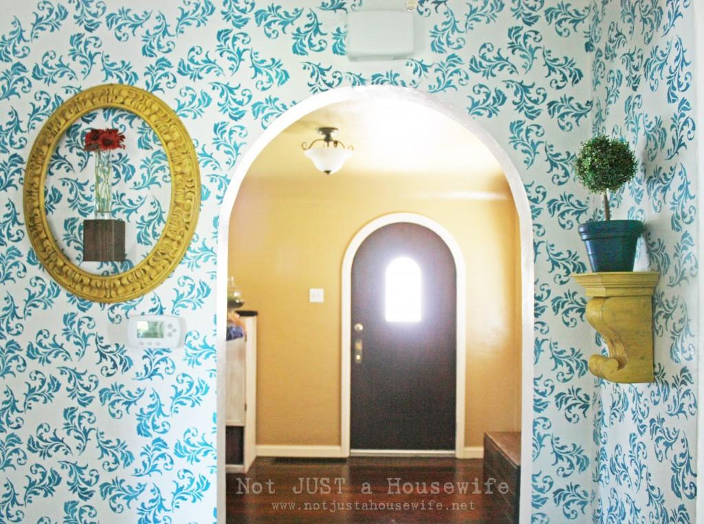 hallway blue yellow 1024x762 My Hallway Reveal!!!
