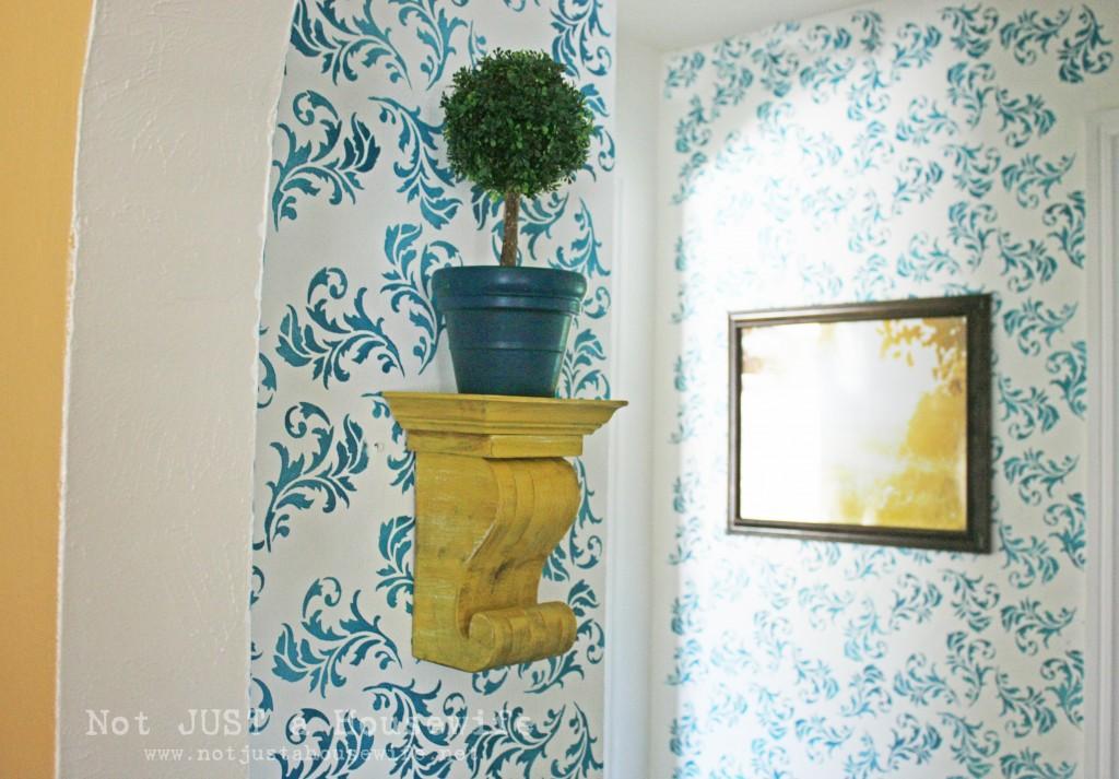 hallway corbel 1024x713 My Hallway Reveal!!!