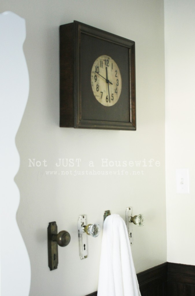 clock bathroom 675x1024 Bathroom Reveal!!!