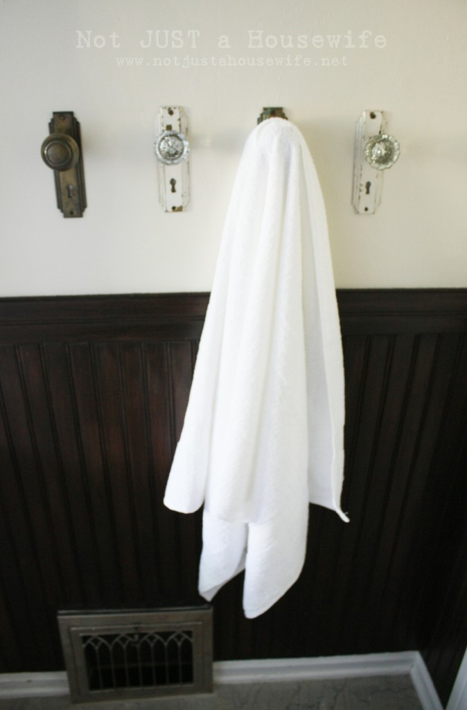 door knob towel hook 674x1024 Bathroom Reveal!!!