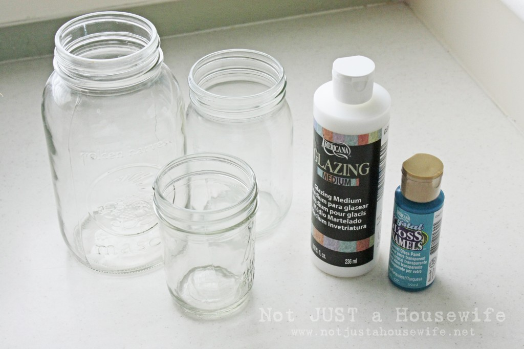gloss enamel paint 1024x682 Make Your Own Blue Jars!!!