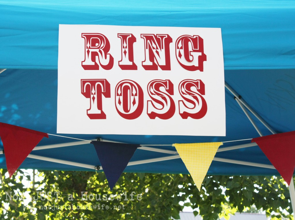 ring toss sign 1024x764 County Fair Birthday Party