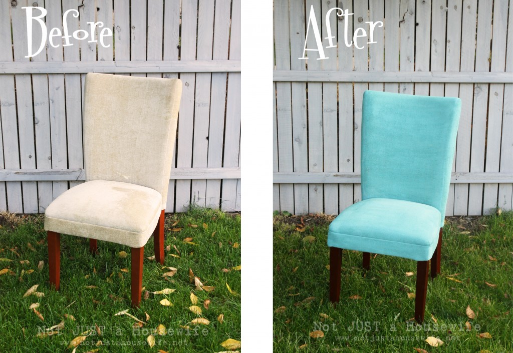 before after chair 1024x705 Painting Upholstered Furniture