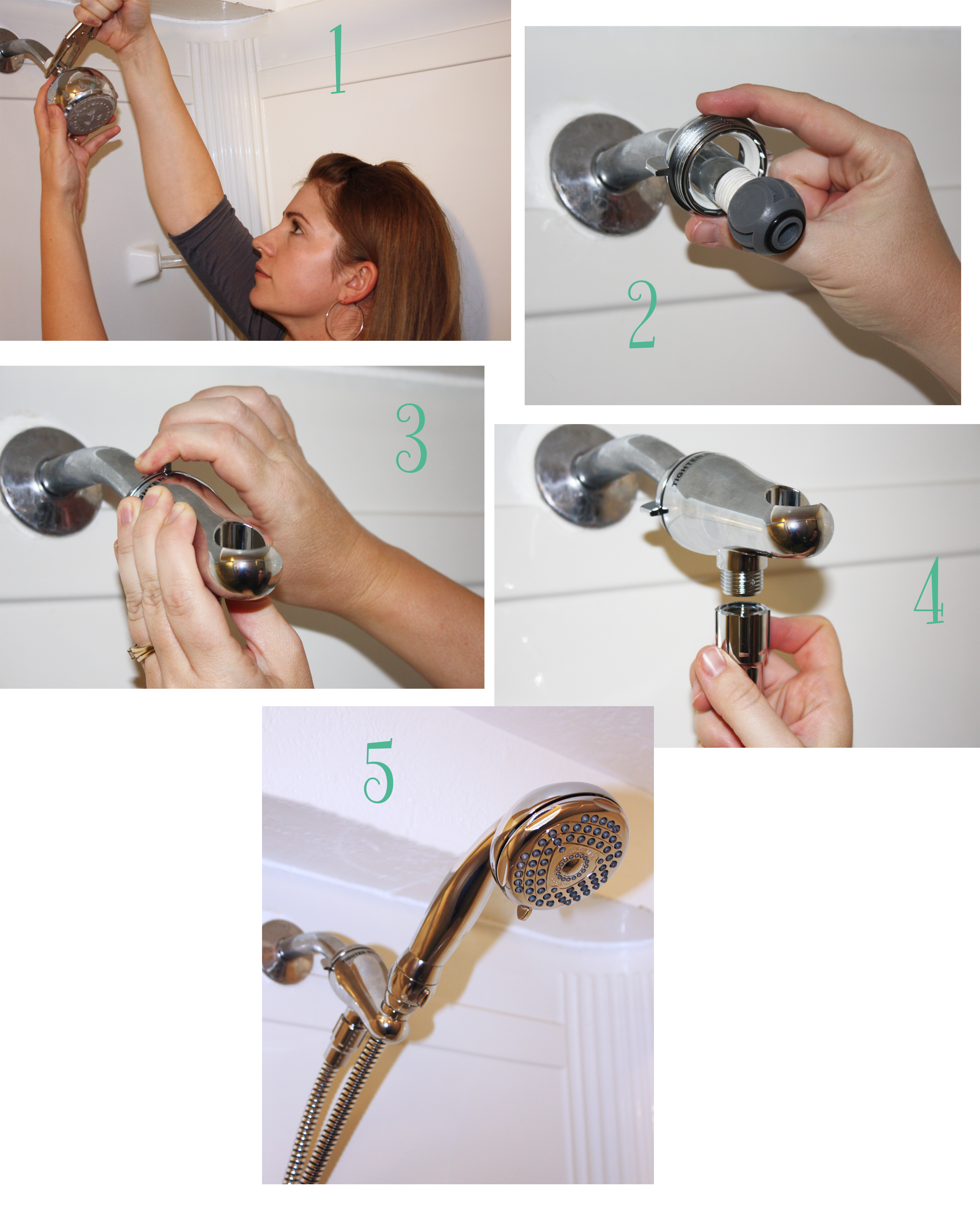 How To Install Shower Head - Image Cabinets and Shower Mandra-Tavern.Com