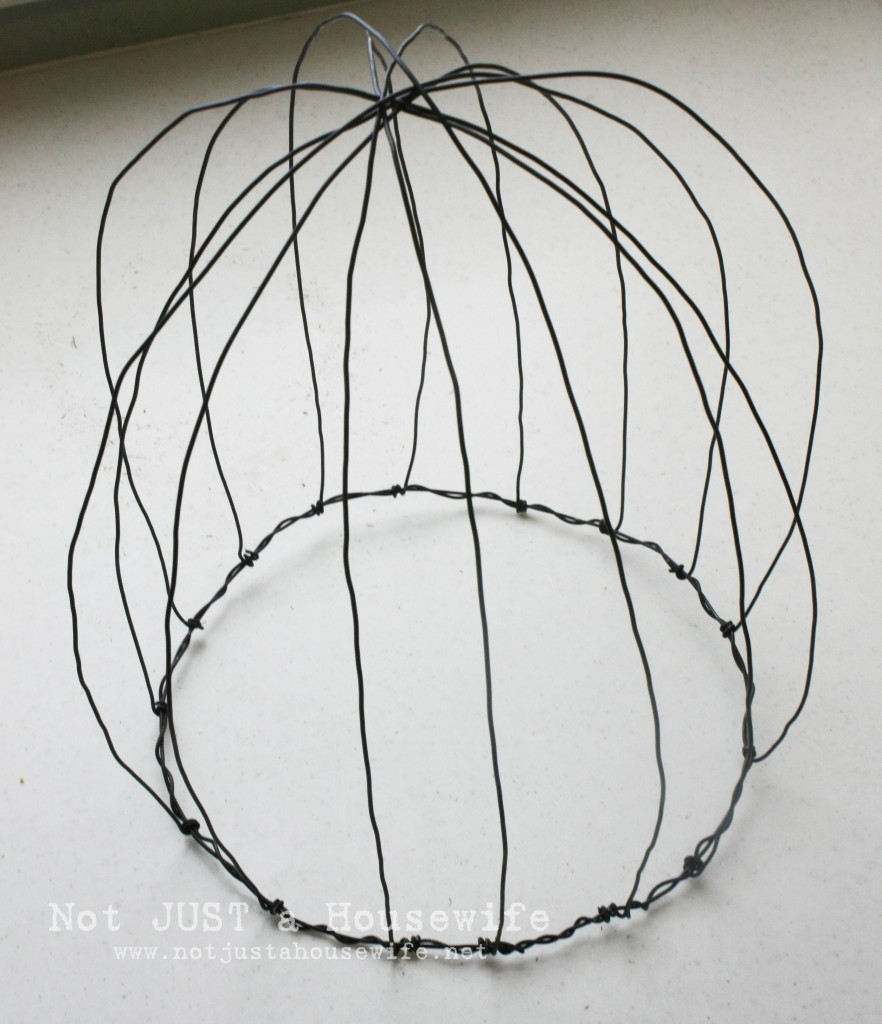 wire mess 882x1024 Wire Plant Cloche Tutorial