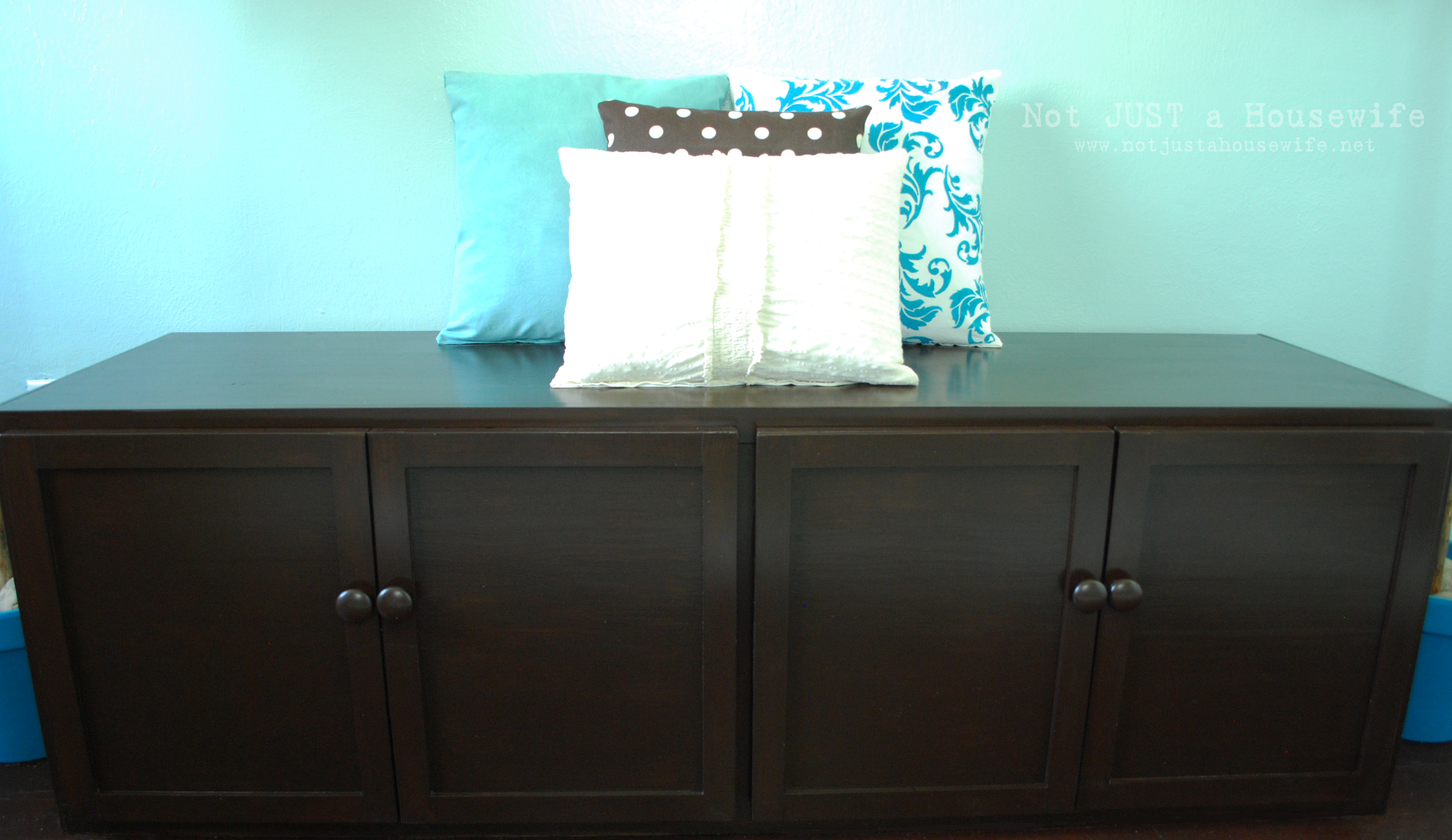 How to build a Storage Bench | Not JUST A Housewife