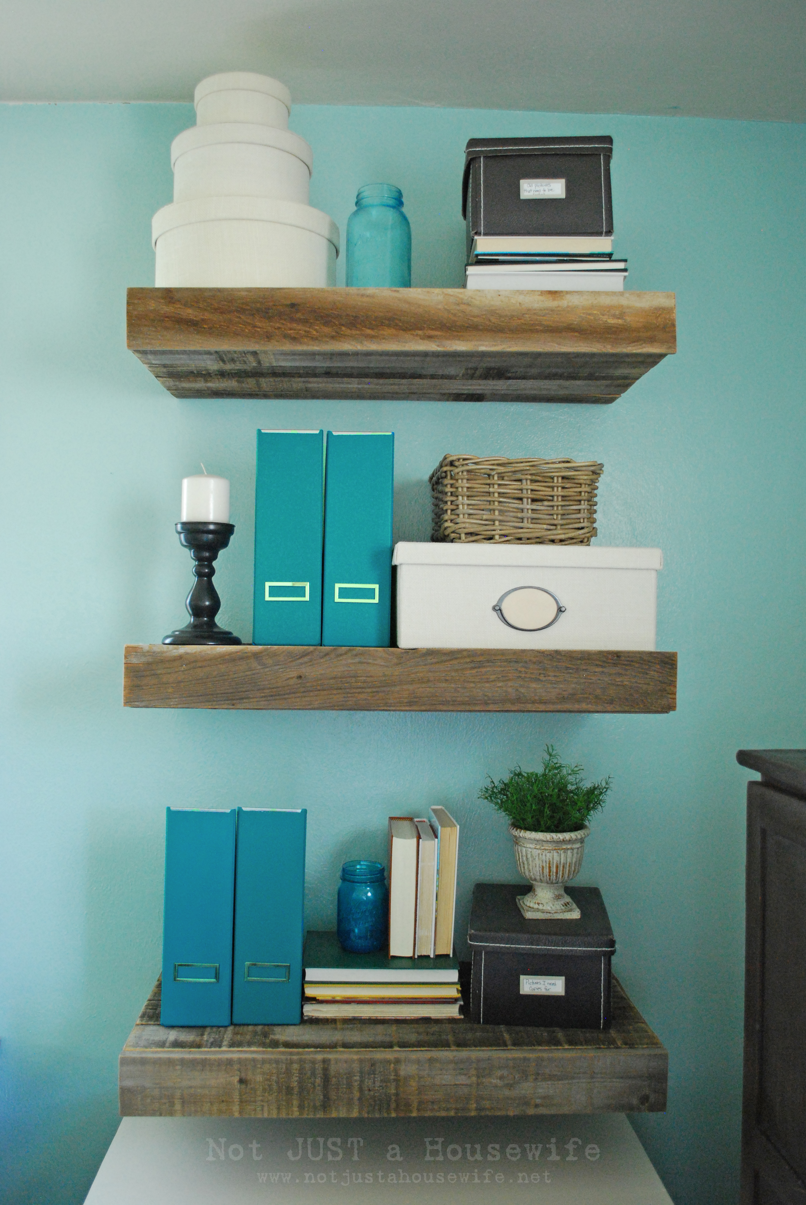Reclaimed Wood Floating Shelves Stacy Risenmay