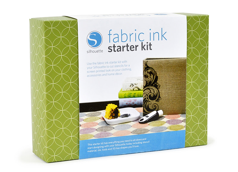 fabric ink starter kit on white Clock Pillow