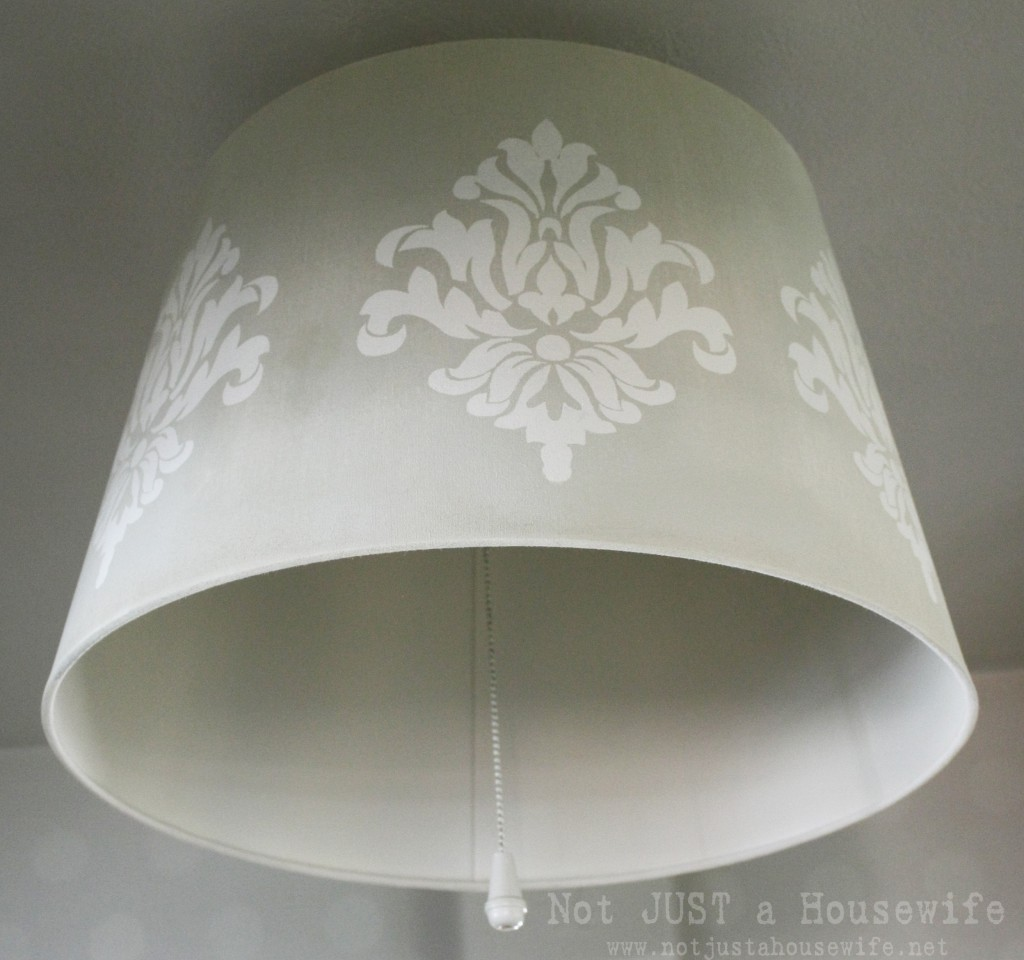 close up lamp shade 1024x960 Stenciled Lamp Shade