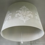 Stenciled Lamp Shade