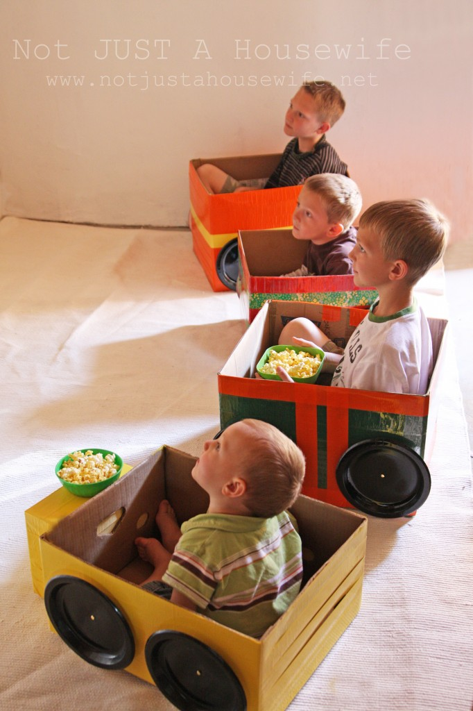 cardboard cars for a homemade drive in theater stacy risenmay. Black Bedroom Furniture Sets. Home Design Ideas