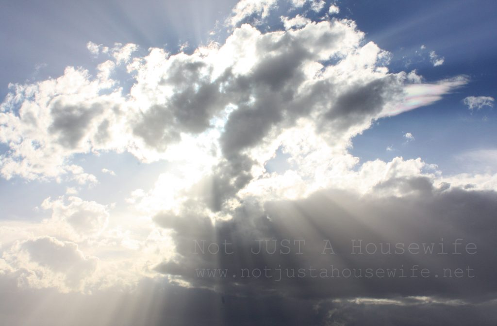sun through cloud 1024x672 Good News!