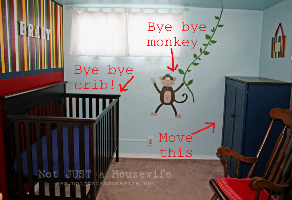 baby room monkey 1 Changes are a comin!