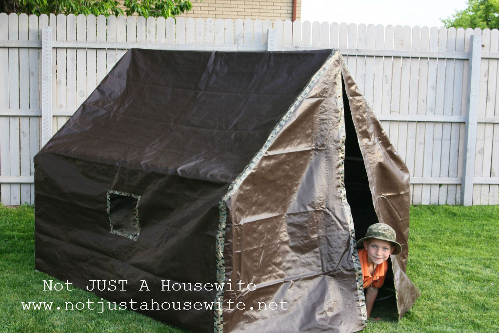 boys army tent How to make a play tent