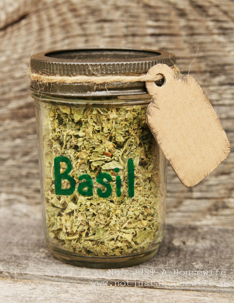 basil jar Dried Herbs