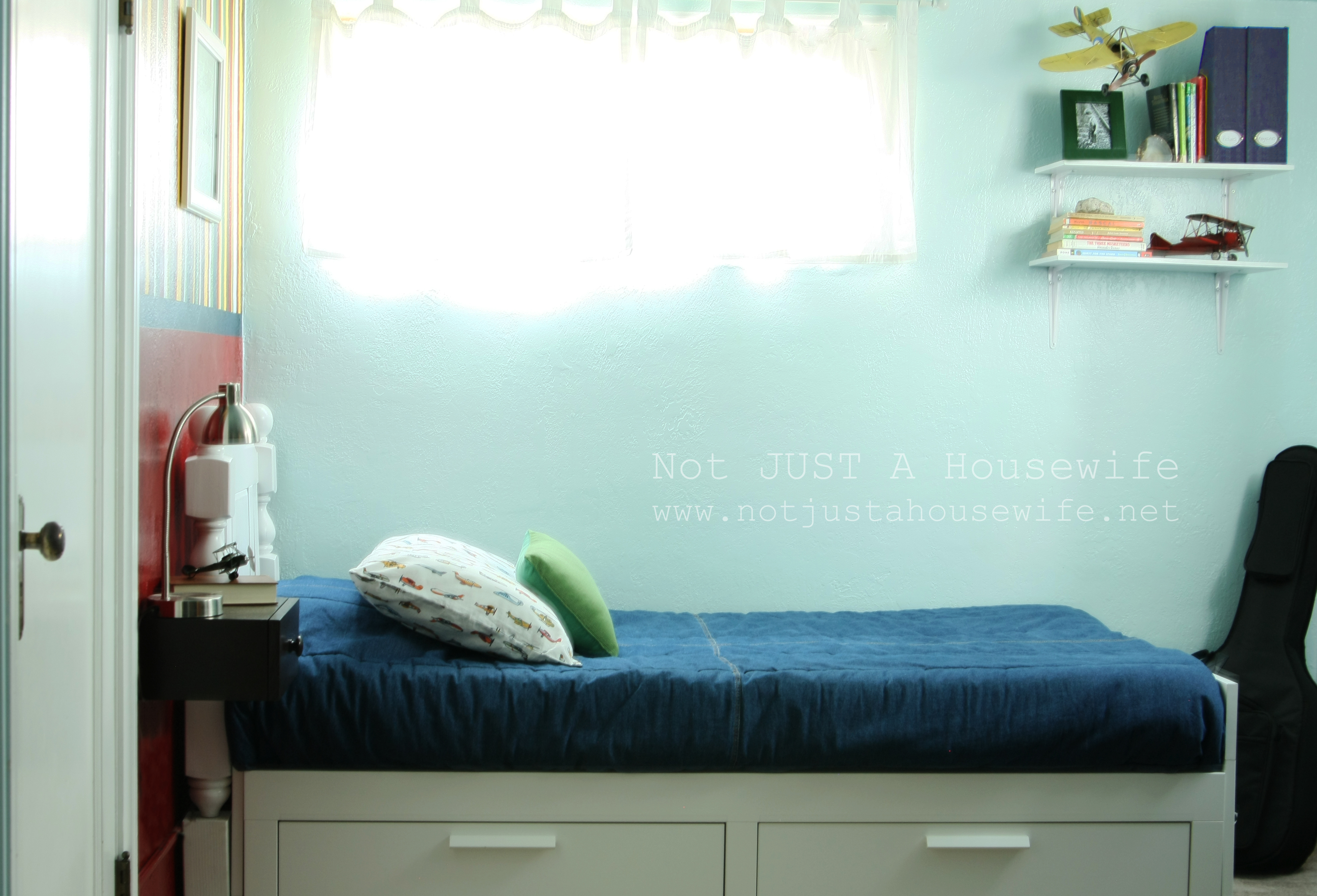 An airplane bedroom not just a housewife for Brimnes daybed ikea