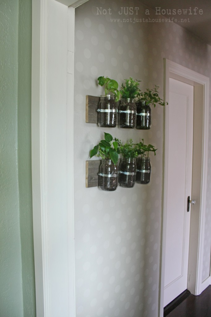 hallway from kitchen 682x1024 Mason Jar Planter: UPDATE