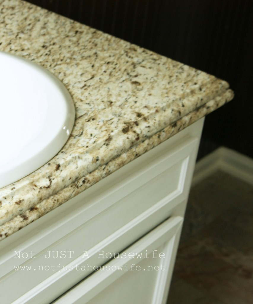 bathroom counter edge ogee bullnose 853x1024 My Vintage Bathroom gets and UPDATE