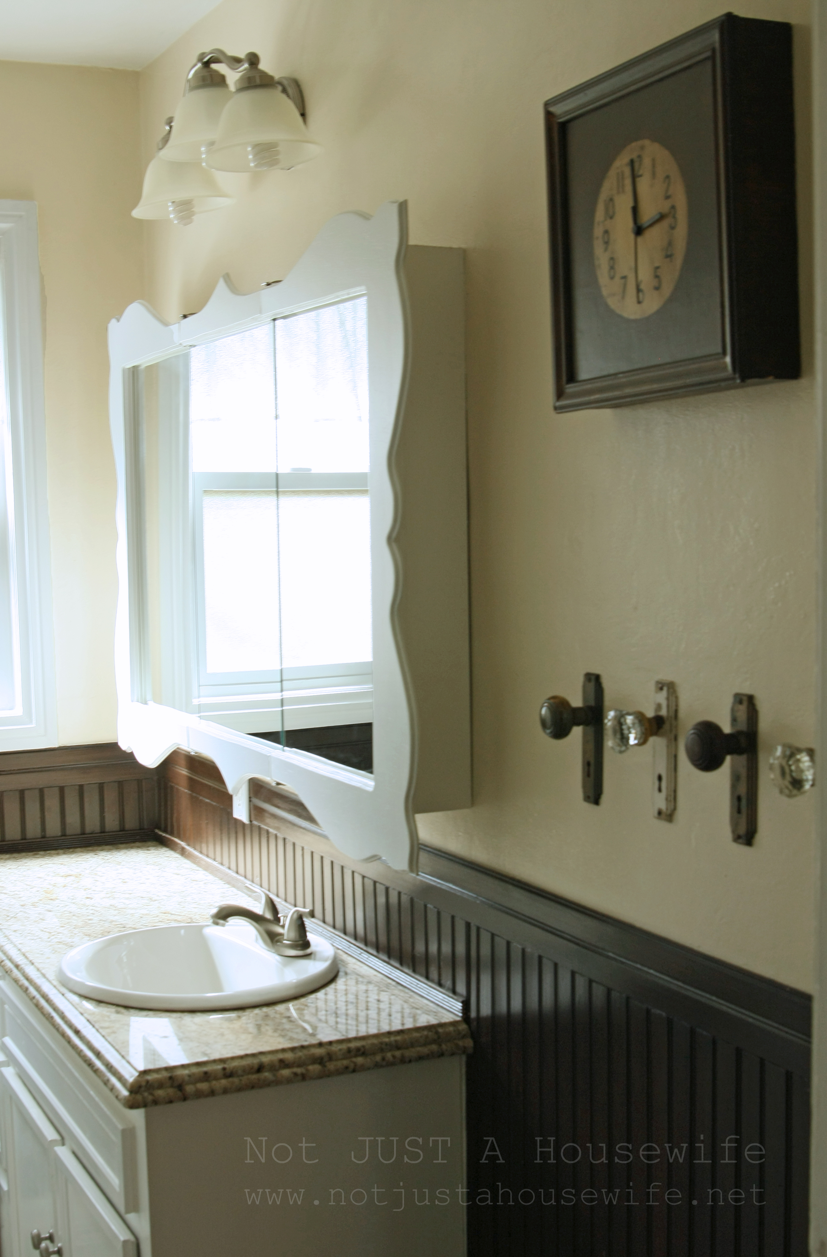 My Vintage Bathroom Gets And Update Not Just A Housewife