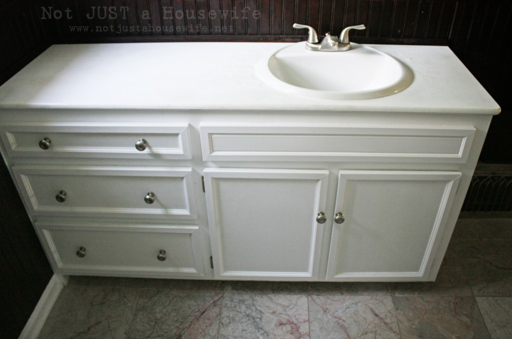 bathroom vanity 1024x678 My Vintage Bathroom gets and UPDATE