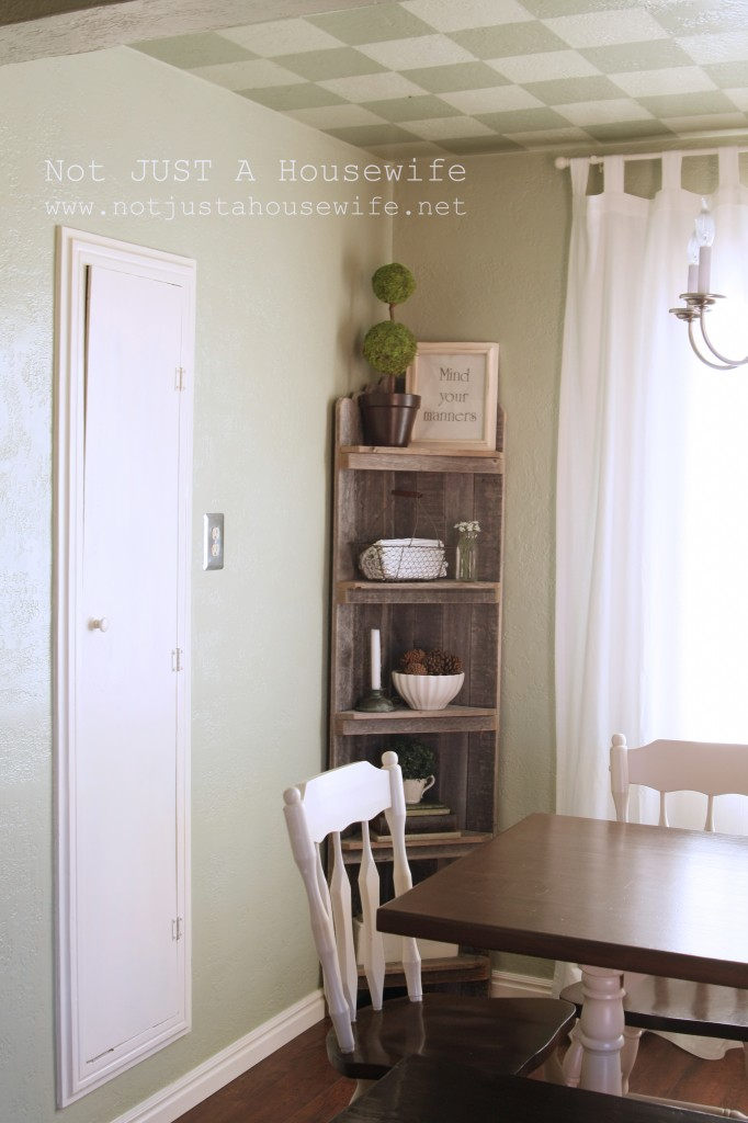 dining room shelf edited 1 682x1024 Dining Room Update {French Country}