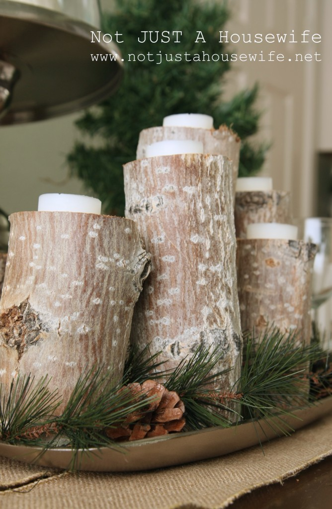 christmas tablescape wood candles 668x1024 Holiday Tablescapes {Thanksgiving &Christmas}