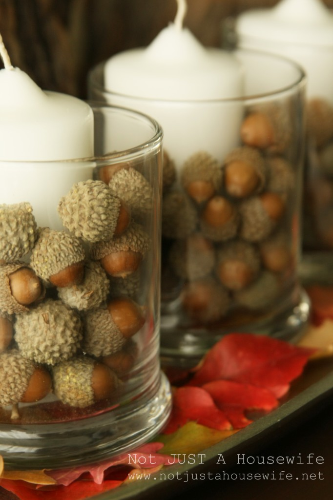 tablescape acorns 682x1024 Holiday Tablescapes {Thanksgiving &Christmas}