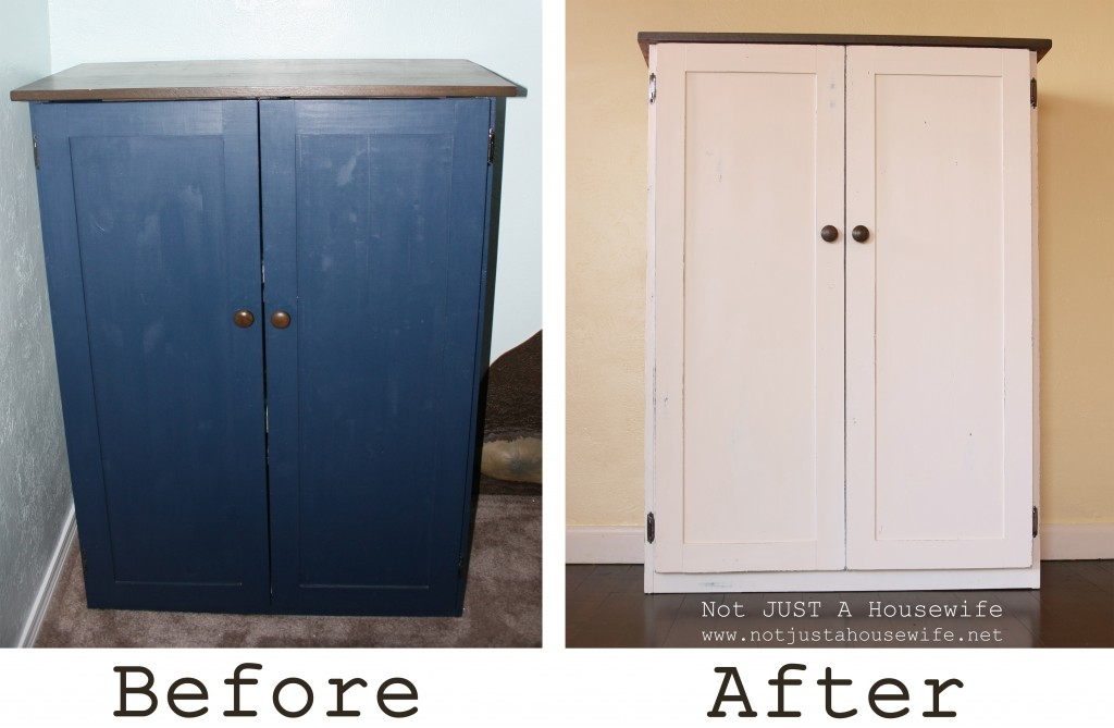 before and after cabinet 1024x669 Heirloom White Cabinet