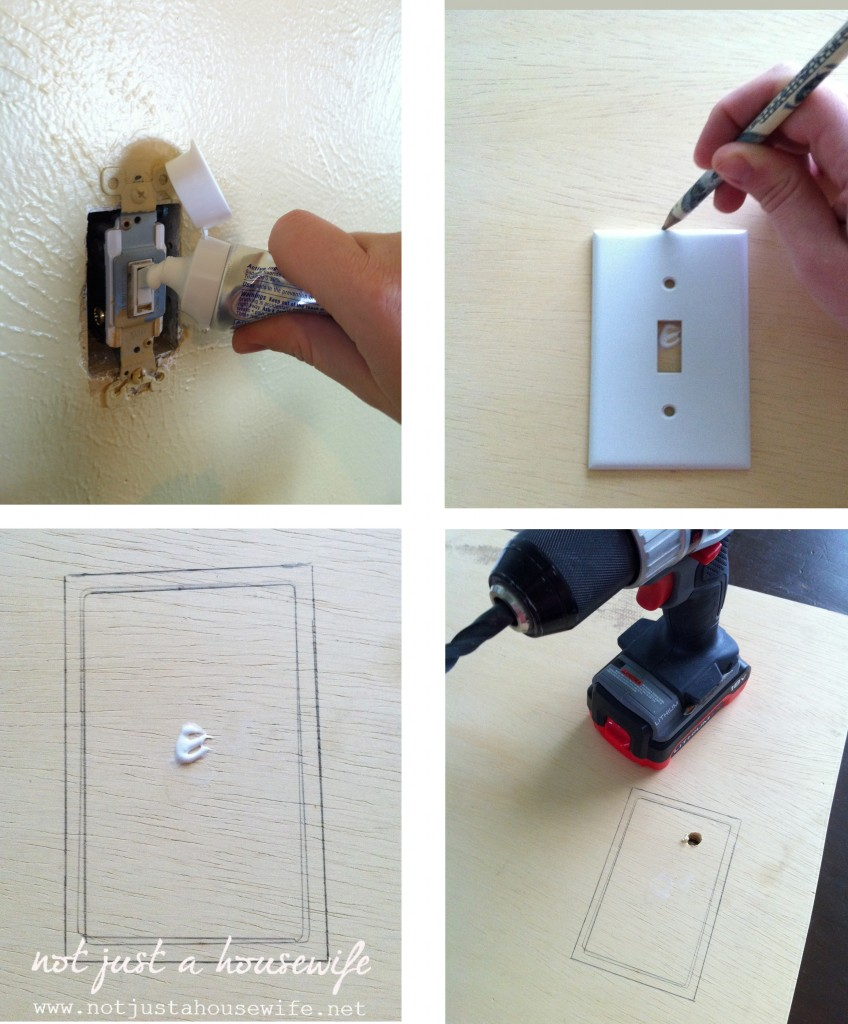 cutting out litgh switch hole edited 1 848x1024 How To Build A Simple Cupboard