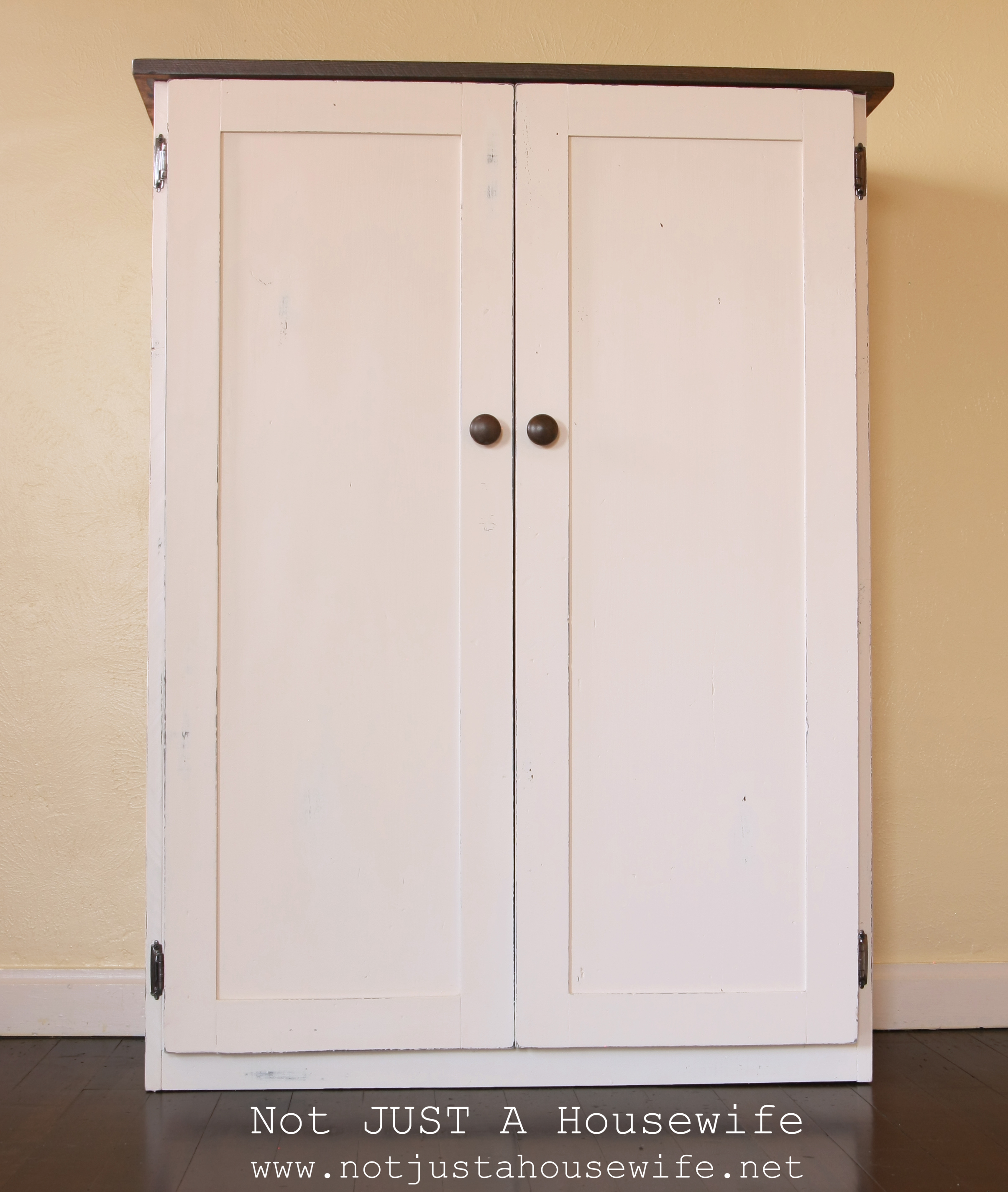 White Storage Cabinet ~ Heirloom white cabinet not just a housewife