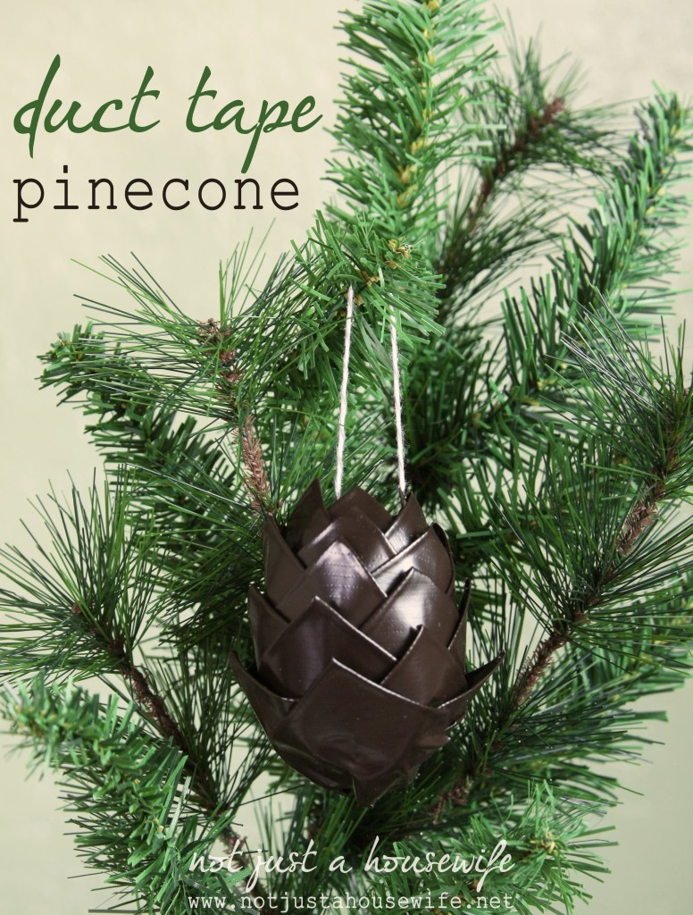 duct tape pine cone 776x1024 Holiday Decor {made from duct tape}