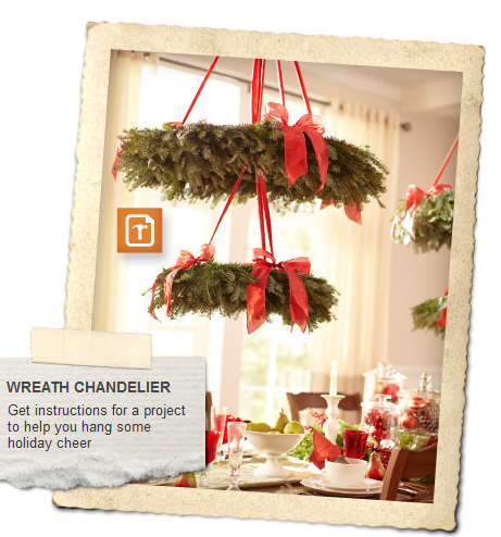 holiday style guide wreathe chandelier {Second Annual} Home Depot Week!