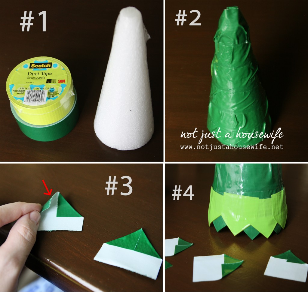 how to make duct tape tree 1024x973 Holiday Decor {made from duct tape}