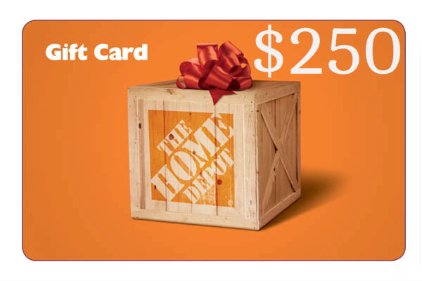 Home Depot Gift Card WINNER of the DIY Contest