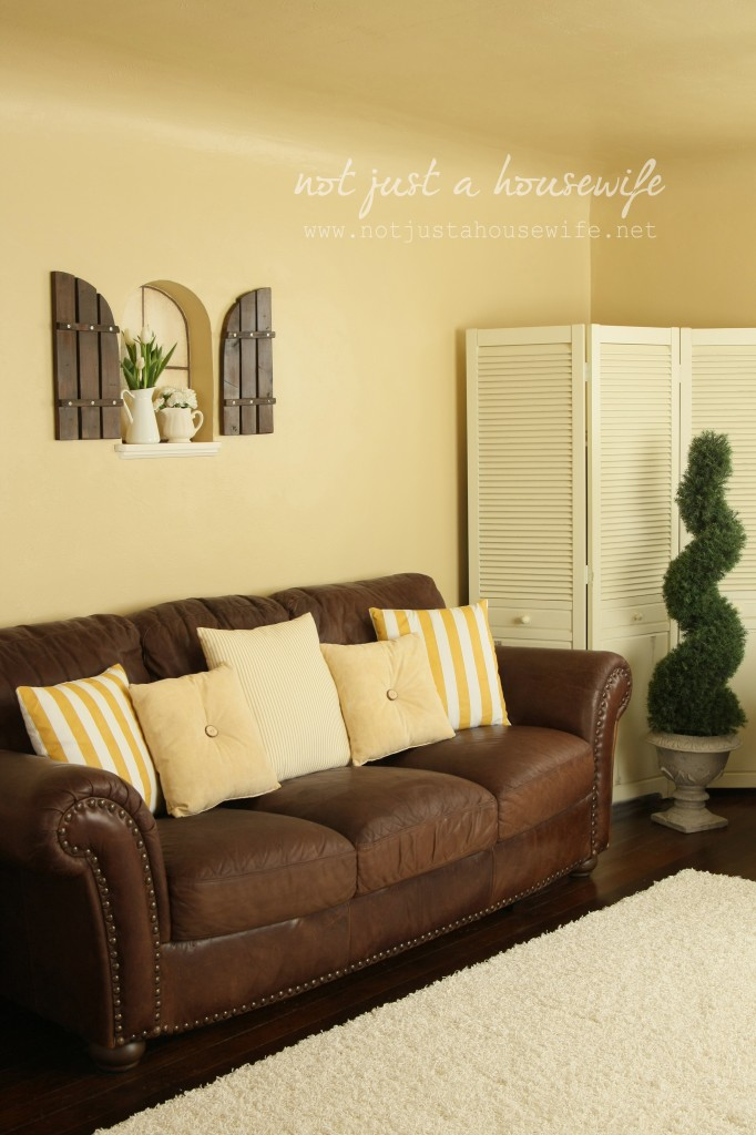 Yellow Pillows On Couch Family Rooms