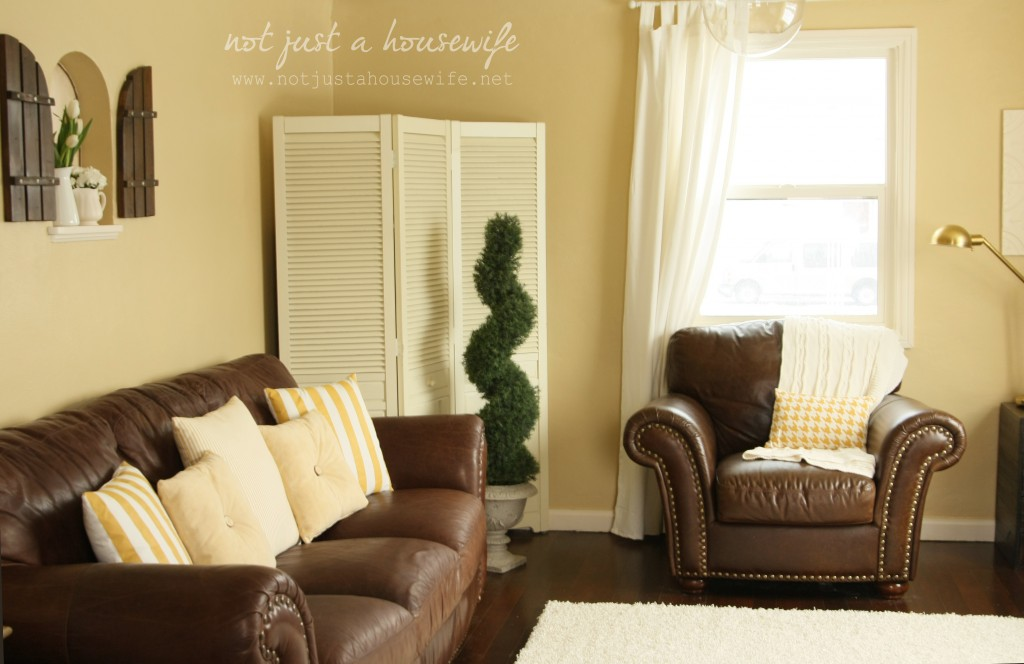family room couch1 1024x664 Cheerful Yellow Family Room {The BIG Reveal!!!!}