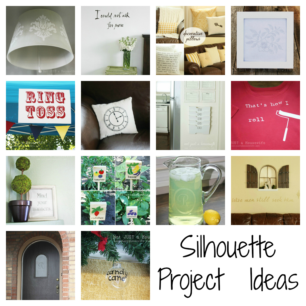 Silhouette project collage Silhouette Giveaway!!!