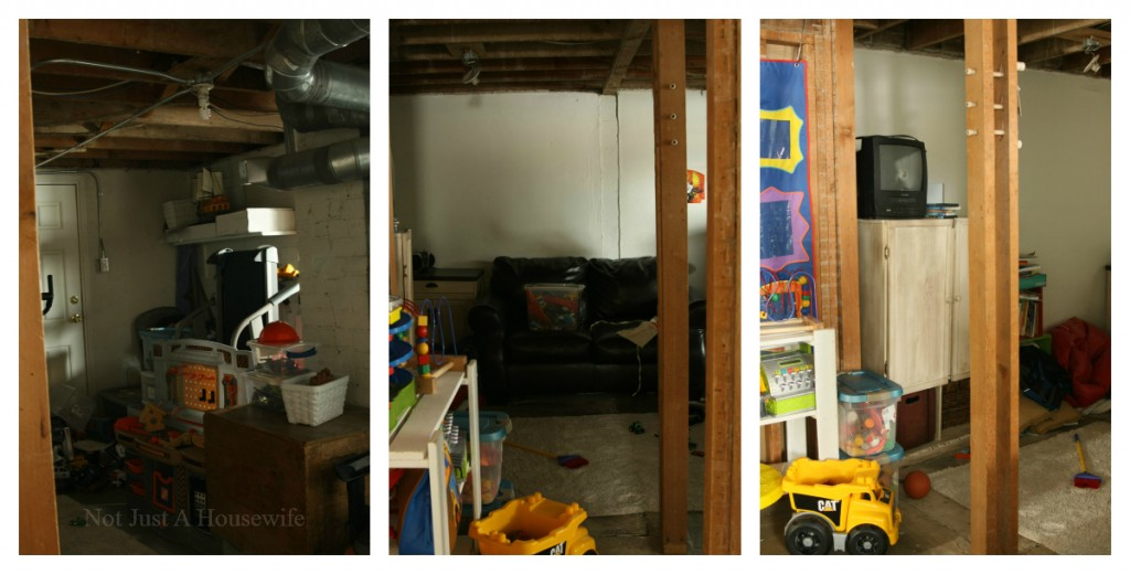 basement before collage 1024x520 2013 Home Goals {WARNING: This is not pretty}