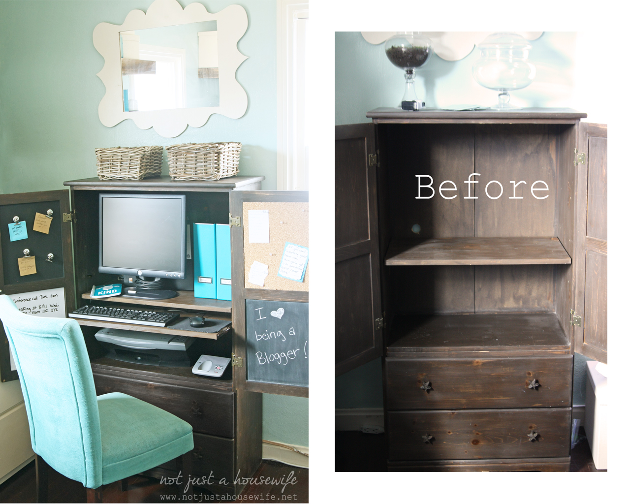 Before And After Computer Hutch